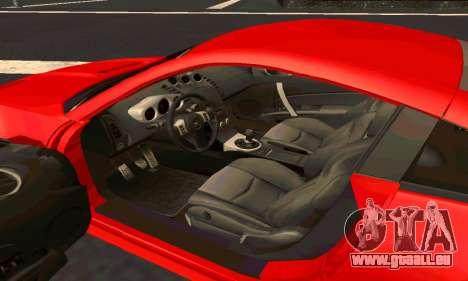 Nissan 350Z Tune für GTA San Andreas Innenansicht