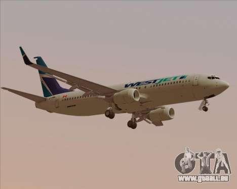 Boeing 737-800 WestJet Airlines pour GTA San Andreas vue de droite