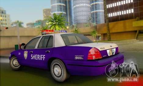 Ford Crown Victoria 1999 Walking Dead pour GTA San Andreas laissé vue