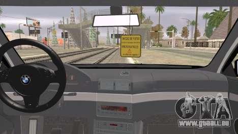 BMW 520d E39 2000 pour GTA San Andreas sur la vue arrière gauche