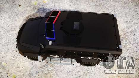 SWAT Van Metro Police [ELS] für GTA 4 rechte Ansicht