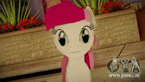 Roseluck from My Little Pony pour GTA San Andreas troisième écran