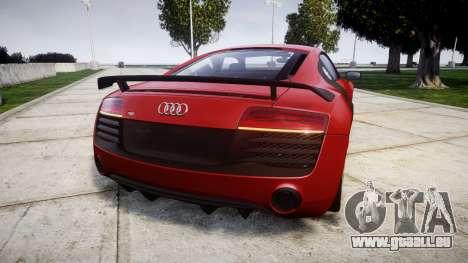 Audi R8 LMX 2015 [EPM] [Update] pour GTA 4 Vue arrière de la gauche