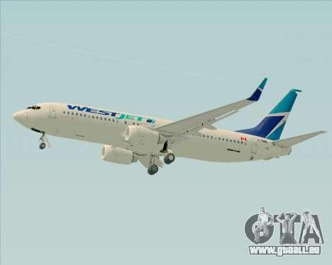 Boeing 737-800 WestJet Airlines für GTA San Andreas obere Ansicht