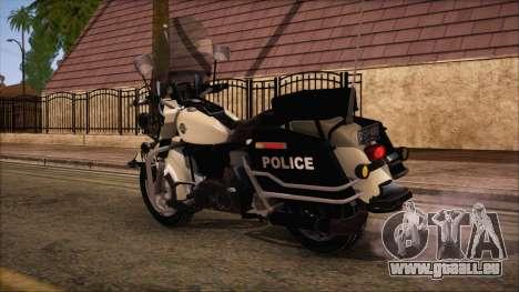 GTA 5 Police Bike für GTA San Andreas linke Ansicht