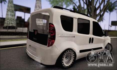 Fiat Doblo 2010 Edit pour GTA San Andreas laissé vue