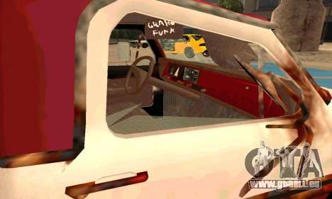 Ford PickUp Rusted pour GTA San Andreas vue intérieure