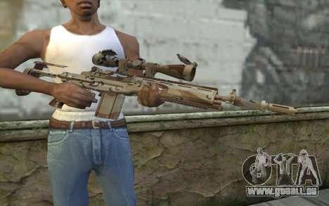M14 EBR Chipdesert pour GTA San Andreas troisième écran
