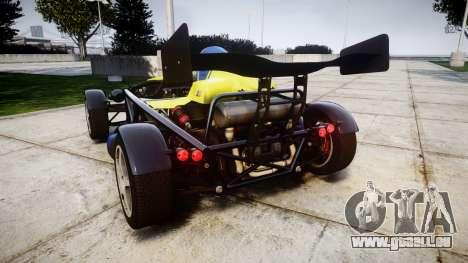 Ariel Atom V8 2010 [RIV] v1.1 Petrolos pour GTA 4 Vue arrière de la gauche