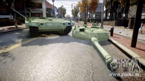 Leopard 2A7 EU Green für GTA 4 Rückansicht