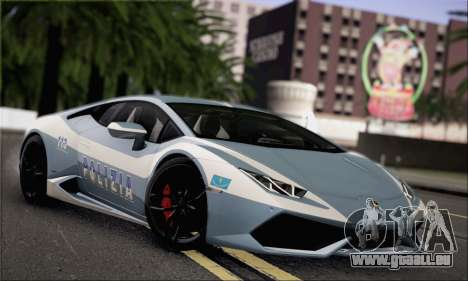 Lamborghini Huracan LP610-4 2015 für GTA San Andreas Rückansicht