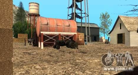 Der Altruist camp am mount Chiliad für GTA San Andreas her Screenshot