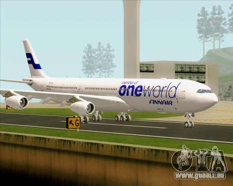 Airbus A340-300 Finnair (Oneworld Livery) für GTA San Andreas obere Ansicht