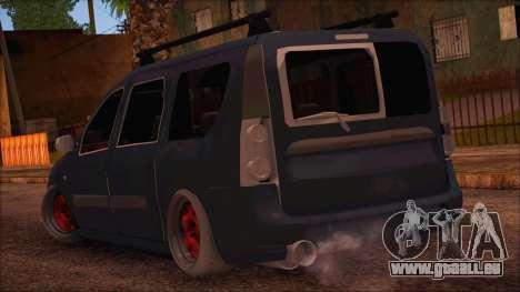 Dacia Logan MCV Tuning pour GTA San Andreas laissé vue