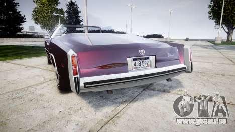Cadillac Eldorado 1978 pour GTA 4 Vue arrière de la gauche