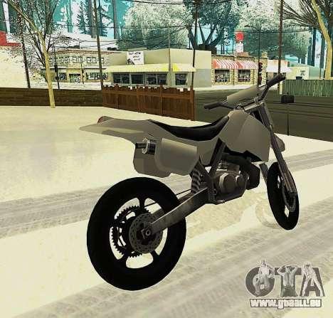 Sanchez SuperMoto pour GTA San Andreas laissé vue