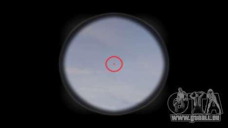 Pistolet MP5SD EOTHS CS c cible pour GTA 4 troisième écran