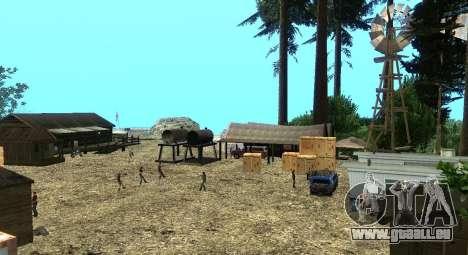 L'Altruiste camp sur le mont Chiliade pour GTA San Andreas septième écran