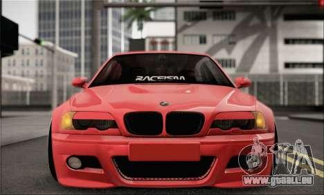 BMW M3 Coupe Tuned pour GTA San Andreas vue de droite