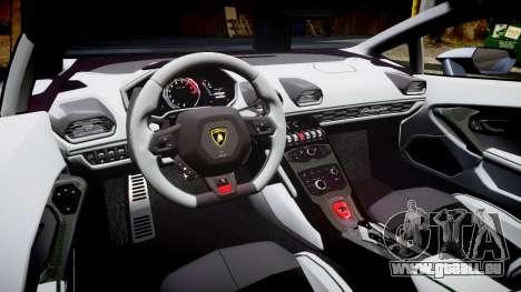 Lamborghini Huracan LP 610-4 2015 Blancpain für GTA 4 Innenansicht