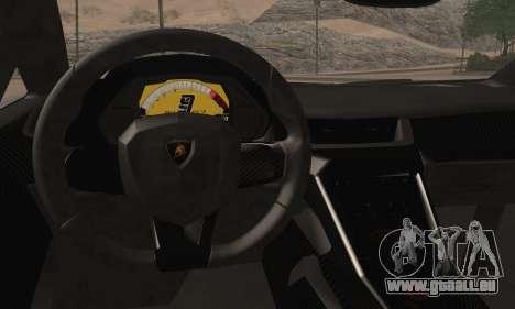 Lamborghini Veneno LP750-4 White Black 2014 pour GTA San Andreas sur la vue arrière gauche