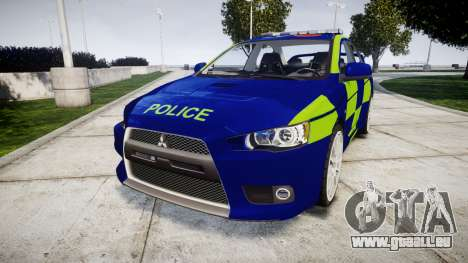 Mitsubishi Lancer Evolution X Police [ELS] pour GTA 4