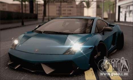 Lamborghini Gallardo Superleggera 2011 für GTA San Andreas