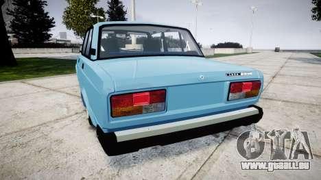 VAZ-2107 meilleur modèle pour GTA 4 Vue arrière de la gauche
