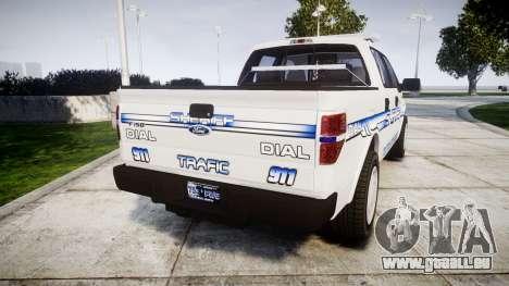 Ford F-150 [ELS] Liberty County Sheriff pour GTA 4 Vue arrière de la gauche
