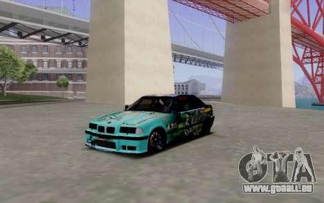 BMW M3 E36 Gorilla Energy Team für GTA San Andreas linke Ansicht