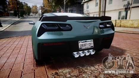 Chevrolet Corvette Z06 2015 TireKHU für GTA 4 hinten links Ansicht