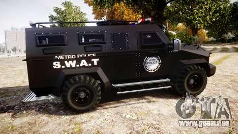 SWAT Van Metro Police pour GTA 4 est une gauche