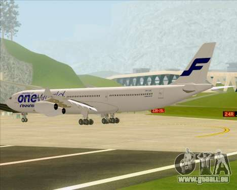 Airbus A340-300 Finnair (Oneworld Livery) für GTA San Andreas Rückansicht