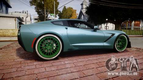 Chevrolet Corvette Z06 2015 TireKHU für GTA 4 linke Ansicht