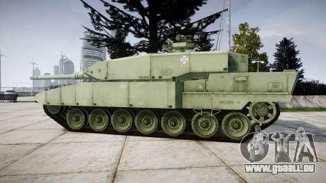 Leopard 2A7 EU Green für GTA 4 linke Ansicht