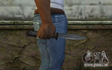 Retextured Knife für GTA San Andreas dritten Screenshot