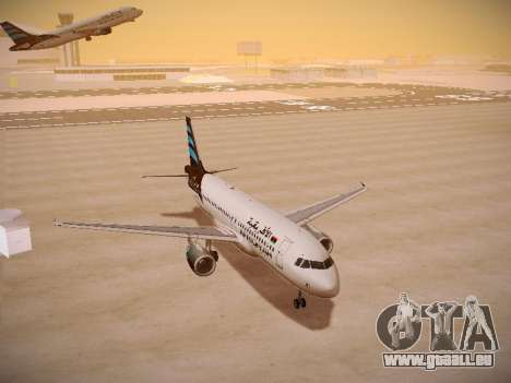 Airbus A320-214 Afriqiyah Airways für GTA San Andreas Rückansicht