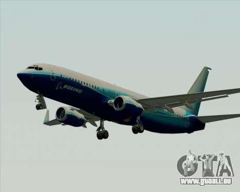 Boeing 737-800 House Colors für GTA San Andreas zurück linke Ansicht