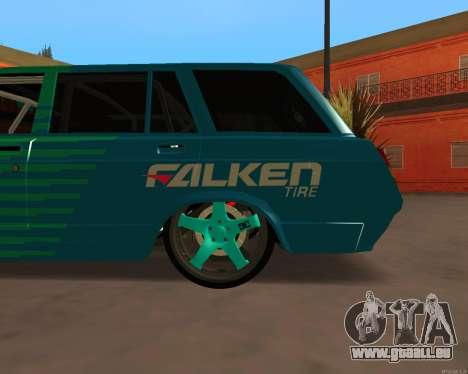 CES 2104 Falken pour GTA San Andreas sur la vue arrière gauche