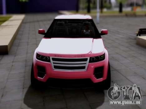 GTA V Gallivanter Baller II pour GTA San Andreas sur la vue arrière gauche