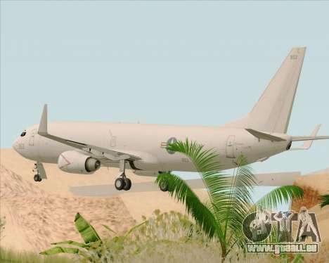 Boeing P-8 Poseidon US Navy pour GTA San Andreas sur la vue arrière gauche