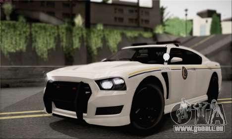 Bravado Buffalo S Police Edition (HQLM) für GTA San Andreas Rückansicht