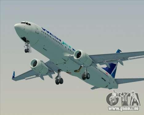 Boeing 737-800 WestJet Airlines pour GTA San Andreas moteur