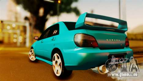 Subaru Impreza WRX STi 2012 pour GTA San Andreas laissé vue