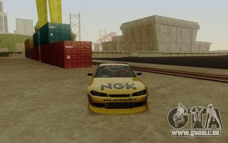 Nissan Silvia S15 NGK Motorsport für GTA San Andreas rechten Ansicht