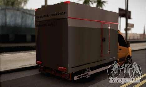 Volkswagen Crafter pour GTA San Andreas laissé vue