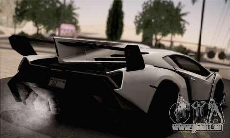 Lamborghini Veneno LP750-4 White Black 2014 pour GTA San Andreas laissé vue