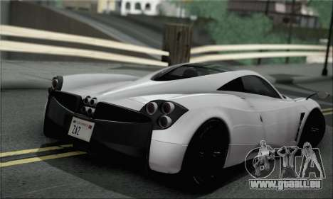 Pagani Huayra TT Ultimate Edition pour GTA San Andreas laissé vue