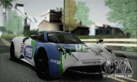 Pagani Huayra TT Ultimate Edition pour GTA San Andreas vue intérieure