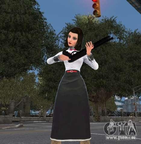 Elizabeth de Bioshock Infinite: Inhumation En Me pour GTA 4 troisième écran